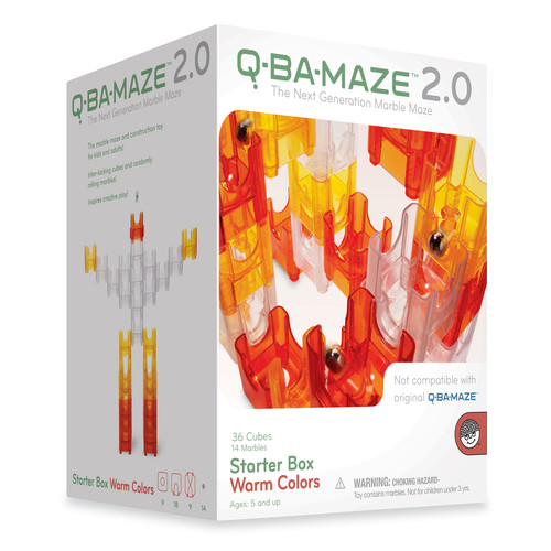 Mindware Q-Ba-Maze 2.0 Starter Box Warm Colors: 50 Pcs