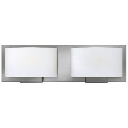 Hinkley Lighting Mila Bath Bar [Number of Lights : 2; Light Option : Halogen; Finish : Brushed Nickel]