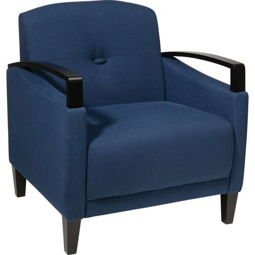 Office Star Ave Six Fabric Main Street Chair, Indigo