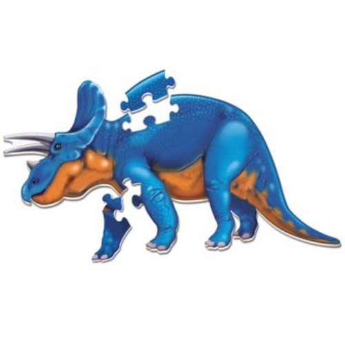 Learning Resources Jumbo Triceratops Puzzle in Blue