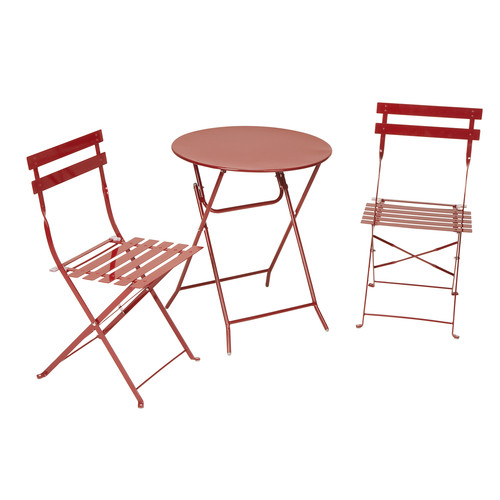 Cosco Home and Office Products 3 Piece Red Folding Bistro Set