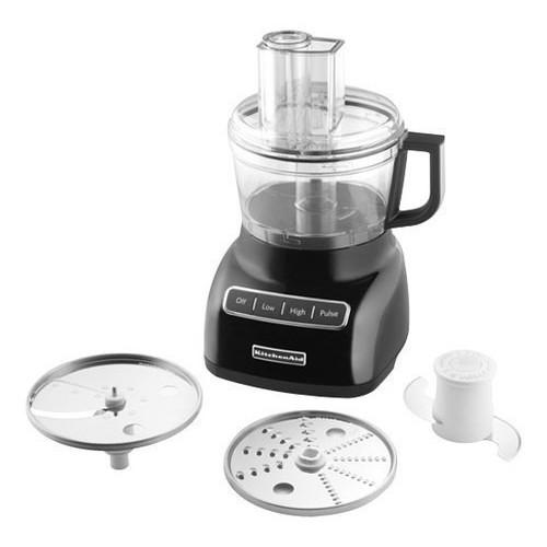 KitchenAid KFP0711OB 7 Cup Food Processor, Onyx Black [Onyx Black]