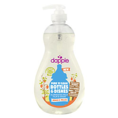 dapple Pure & Clean Baby Bottle & Dish Liquid, Mango & Melon