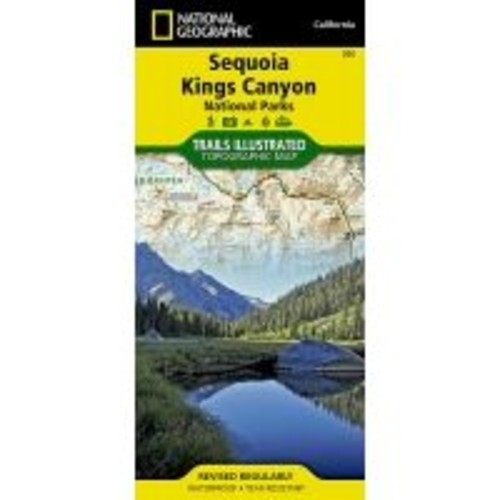 National Geographic Sequoia / Kings Canyon National Park Trail Map TI00000205, Closed Dimensions: 4.25 x 9, Fabric/Material: Paper, Water Resistant, Tear-Resistant,