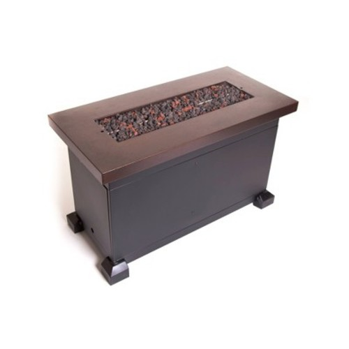 Camp Chef FP40 Monterey PropaneFire Pit Table with Fire Glass & Lid included, Copper Color [Brown]
