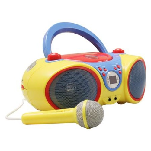 Kids Audio CD Player and Karaoke Machine