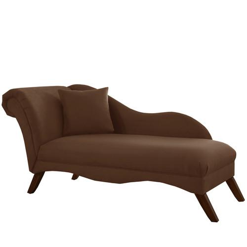 Skyline Furniture Chaise Lounge in Velvet Chocolate