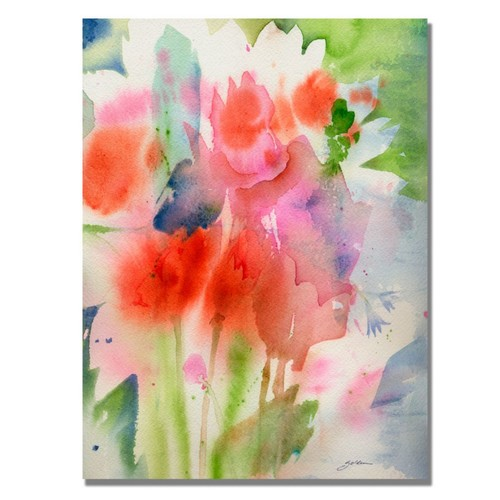 Trademark Fine Art Shelia Golden 'Bouquet in Spring' Canvas Art 35x47 Inches