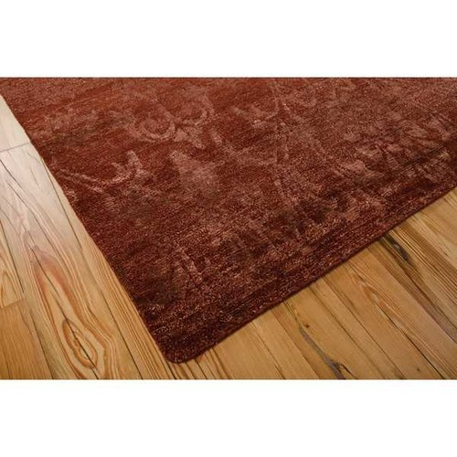 Nourison Silk Shadows Rust Rug (3'9 x 5'9)
