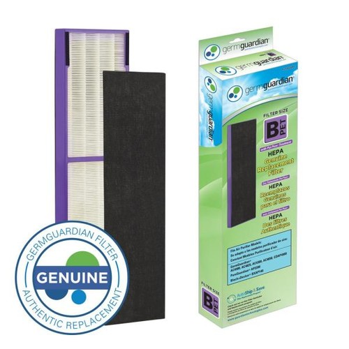 GermGuardian True HEPA with Pet Pure Treatment GENUINE Replacement Filter B for AC4300/AC4800/4900 Series