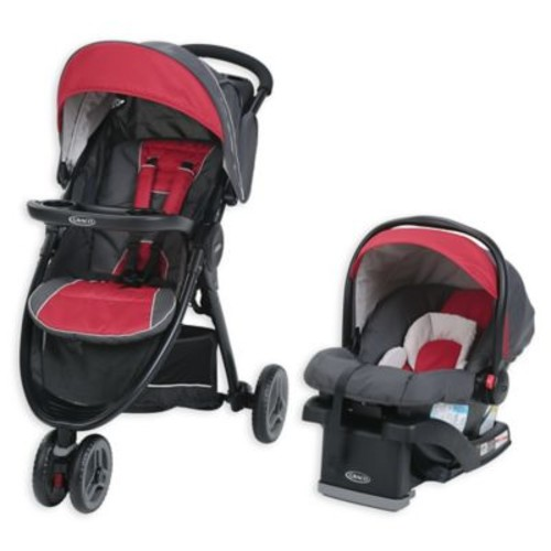 Graco FastAction Sport LX Travel System in Chili Red