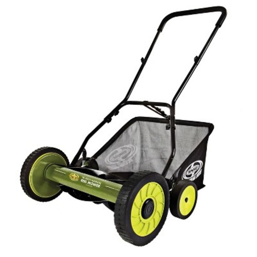 Sun Joe 18 Inch Manual Reel Mower with Grass Catcher