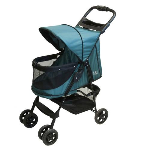 Pet Gear Happy trails No-Zip Pet Stroller [Sapphire]