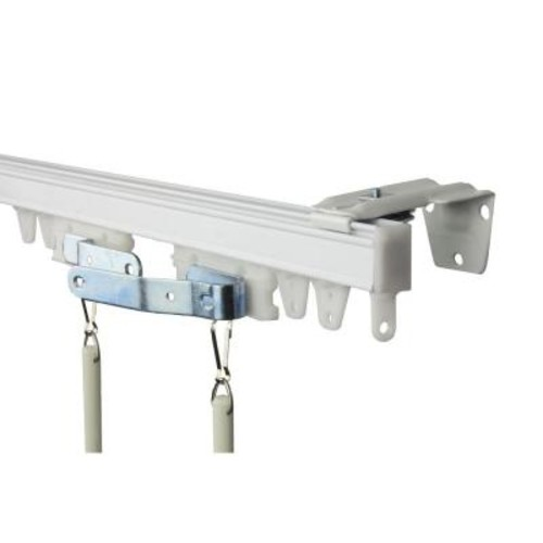 Rod Desyne 96 in. Commercial Wall/Ceiling Track Kit