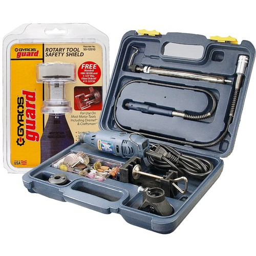 PowerPro Variable Speed Rotary Tool Kit and GyrosGuard Safety Shield Kit, 1-1/2