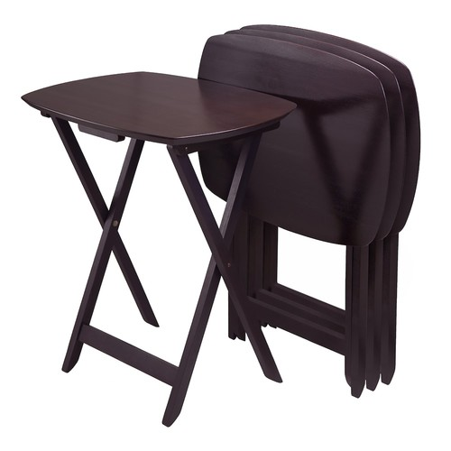 Winsome Wood TV Table, Dark Espresso Finish, Set of 4