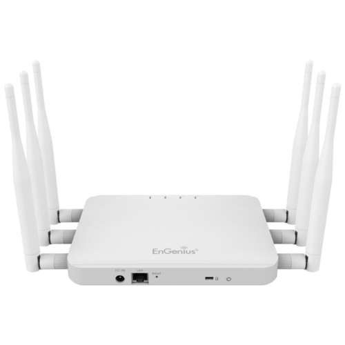 EnGenius AC1750 Dual Band Wireless Indoor Access Point/Client Bridge - High Powered, Long Range, IEEE 802.11ac, 1300Mbps, 29 dBm, 5dBi Omni Directional, LED Control, ISM/UNII Band, QoS - ECB1750