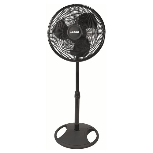 Lasko 2521 Oscillating Stand Fan, 16-Inch, Black [1-Pack]