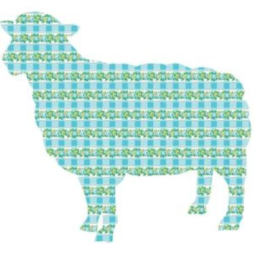 ZooWallogy 26 in. x 24 in. Betty the Lamb Wall Decal