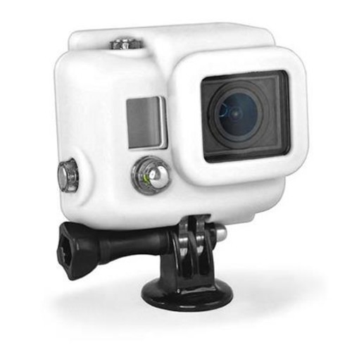 XSories Silicon Cover for GoPro HERO3, 3+, 4 Cameras, Dive Housing, White SILG2/WHI