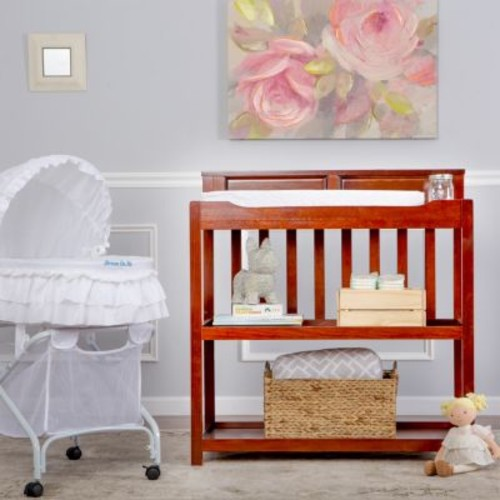 Dream On Me Zoey 3-in-1 Convertible Changing Table, Twin Bed - Espresso
