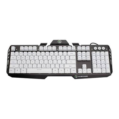 IOGEAR Kaliber Gaming HVER Aluminum Gaming Keyboard - Imperial White (GKB704L-WT)