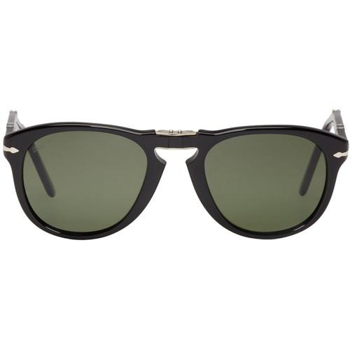 Black Folding Pilot Sunglasses