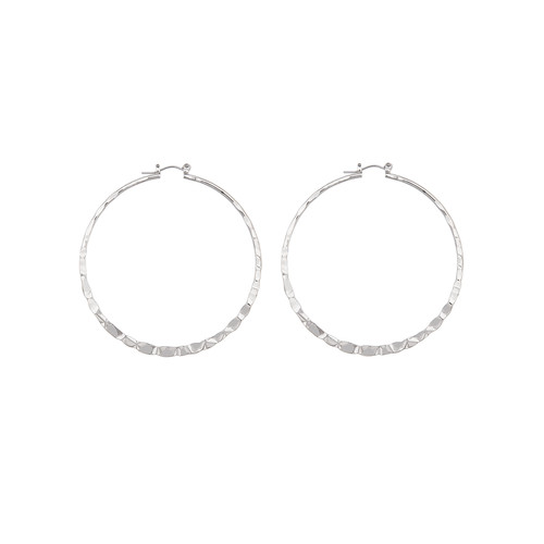 Hammered Thin Hoop Earrings