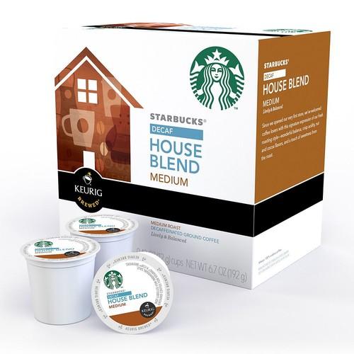 Keurig K-Cup Pod Starbucks House Blend Decaf Coffee - 16-pk.