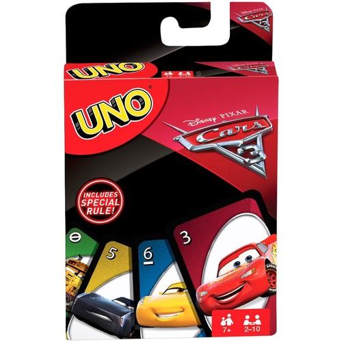 UNO Disney Pixar Cars 3 Card Game