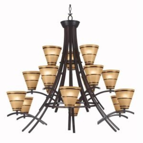 Kenroy Home Wright 15-Light Oil-Rubbed Bronze Chandelier