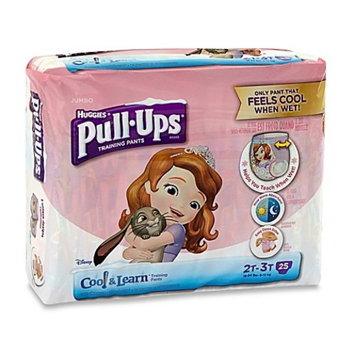 Pull-Ups Cool and Learn Jumbo 25-Count Disposable Girl's Size 2-3T Training Pants