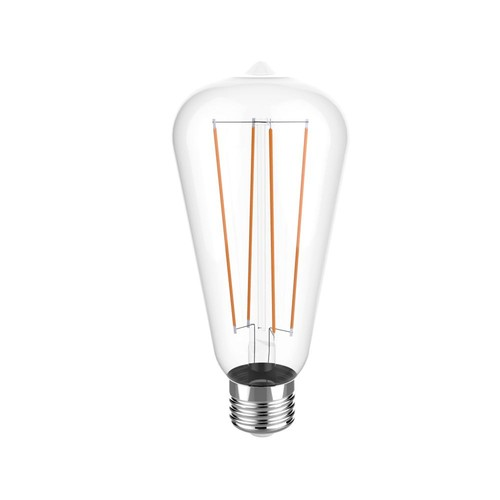Euri Lighting 40W Equivalent Warm White (2700K) ST19 Dimmable Clear LED Light Bulb