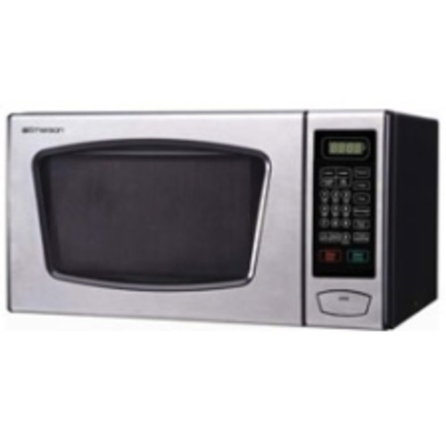 Emerson - Microwave Oven - Black, Stainless Steel