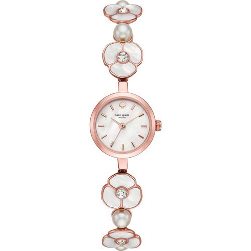 kate spade watches Pink IP Floral Metro Watch