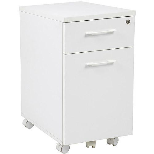 Pro-Line II / OSP Designs Prado Mobile File in White with Hidden Drawer and Castors [White]