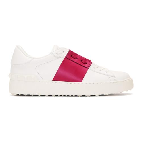 VALENTINO White & Pink  Garavani Open Sneakers