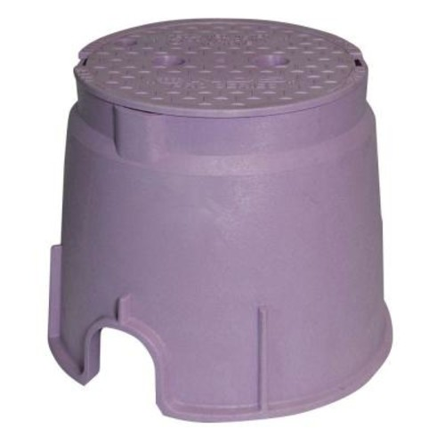 NDS Pro Series 10 in. Round Valve Box and Cover - Reclaimed Water