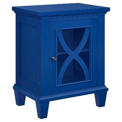 Altra Furniture Ellington 1 Door Navy Accent Cabinet