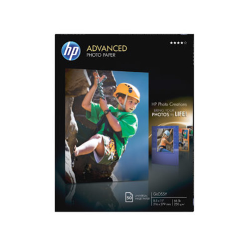 HP Advanced Photo Paper, Glossy (50 sheets, 8.5 x 11 - inch) [Unit : Glossy; Stock No. : pack; Mfg. No. : 8.5 x 11]