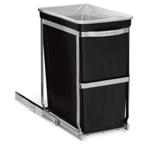 simplehuman 30 Liter Pull-Out Trash Can Heavy-Duty Steel Frame