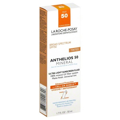 La Roche Posay Anthelios 50 Sunscreen Fluid, Ultra Light, SPF 50 Face, Tinted, 1.7 fl oz (50 ml)