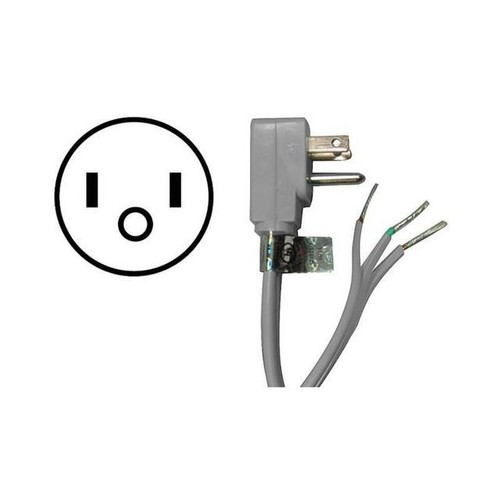 Appliance Power Cord, 15 Amps (5ft) - 15-0345