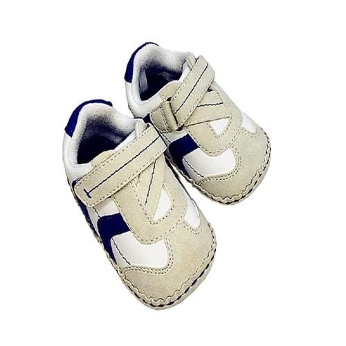 Koala Kids White/Blue Touch Closure Prewalker Shoes