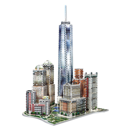 Wrebbit Puzzles New York World Trade 875 Piece 3D Puzzle