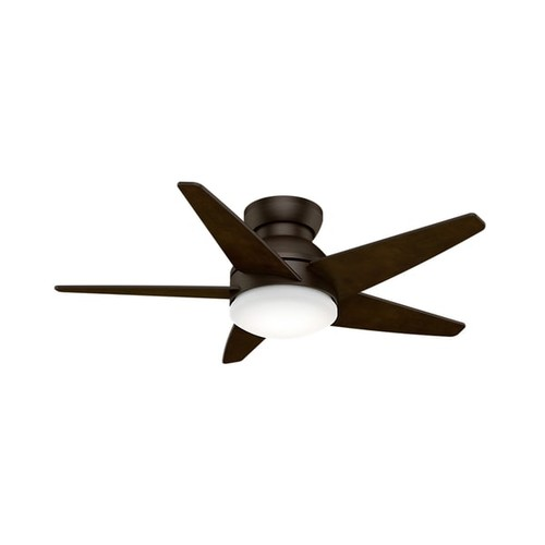 Casablanca Brushed Cocoa 44-inch Isotope Fan with 5 Espresso Blades
