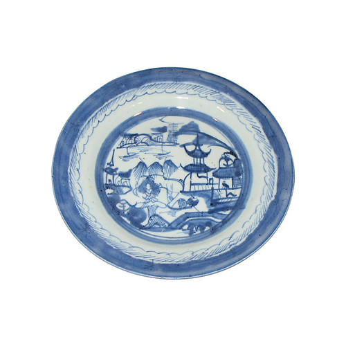 Kelly Gray Collection Blue & White Dish
