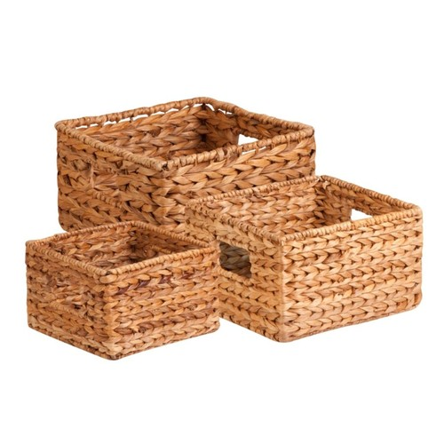 Honey-Can-Do 3Pk Natural Baskets Set