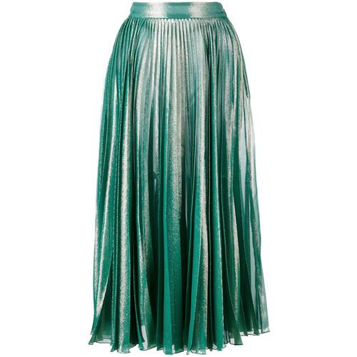 GUCCI Pleated Metallic Skirt