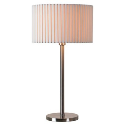 Kenroy Home Grace Table Lamp in Brushed Steel